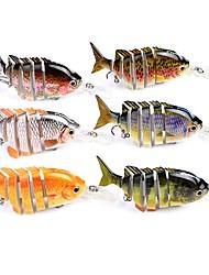 preiswerte -1 Stück Angelköder Pike kleiner Fisch Jerkbaits Harte Fischköder ABS Seefischerei Köderwerfen Eisfischen Spinn Spring Fischen Fischen im