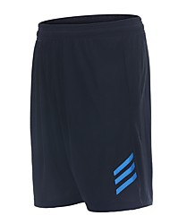cheap -Men's Wide Leg Running Shorts - Green / Black, Black / Blue, Black+Sliver Sports Striped Pants / Trousers Fitness, Gym, Workout Activewear Fast Dry