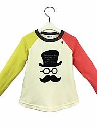cheap -Baby Boys' Daily Animal Print Color Block Tee, Cotton Cute Casual Active Long Sleeves Rainbow
