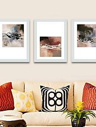 Недорогие -Натюрморт Масляные картины Предметы искусства,Алюминиевый сплав материал с рамкой For Украшение дома Предметы искусства в рамках Спальня