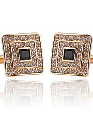 baratos -Forma Geométrica Prata / Dourado Botões de Punho Acrílico / Imitações de Diamante / Liga Formal / Clássico / Fashion Homens Jóias de