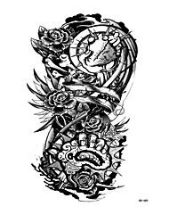Недорогие -Стикер татуировки рука / плечо Временные татуировки 1 pcs Тату с цветами Как на фотографии Искусство тела Повседневные