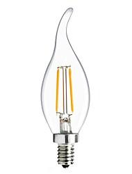 abordables -1pc 2W 160lm E14 Ampoules à Filament LED C35L 2 Perles LED COB Edison Ampoule Décorative Lampe LED Blanc Chaud Blanc Froid 220-240V