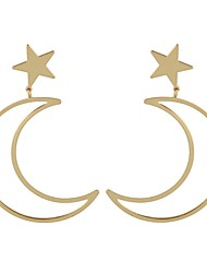 Недорогие -Жен. Серьги-слезки - MOON, Звезда Простой, Классический Золотой / Серебряный Назначение Повседневные Свидание