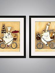 Недорогие -Отпечатки на холсте в рамах Современный, 2 панели холст Вертикальная С картинкой Декор стены Украшение дома