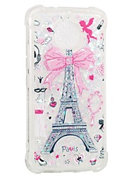 cheap -Case For Motorola MOTO E4 Shockproof Flowing Liquid Pattern Back Cover Eiffel Tower Soft TPU for Moto G5s Moto E4