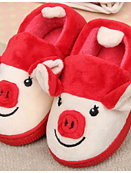 cheap -Girls' Shoes Fleece Winter Fall Comfort Slippers & Flip-Flops for Casual Red Green Pink