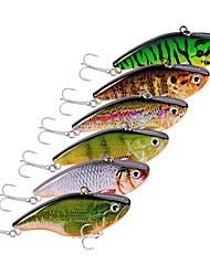 cheap -6 pcs Fishing Lures Minnow Hard Bait Plastic Outdoor Sea Fishing Trolling & Boat Fishing Lure Fishing