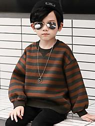 cheap -Boys' Striped Hoodie & Sweatshirt, Cotton Winter Long Sleeves Simple Brown