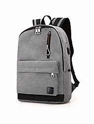 cheap -Men's Bags Canvas Zipper for Casual All Seasons Black Gray Coffee Khaki