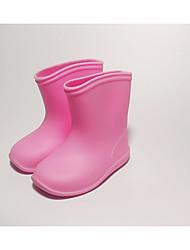 baratos -Para Meninas Sapatos PVC Primavera / Outono Conforto / Botas de Chuva Botas para Amarelo / Azul / Rosa claro / Botas Curtas / Ankle