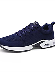 cheap -Men's Sneakers Spring / Fall Round Toe PU Outdoor Flat Heel  / Lace-up Blue / Gray / Black and White Sneaker