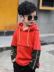 economico -Felpa e felpa con cappuccio Da ragazzo Cotone Tinta unita A strisce Monocolore Inverno Maniche lunghe Semplice Verde Nero Arancione