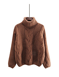cheap -Women's Long Sleeves Pullover - Solid Colored