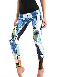 economico -Per donna Alla moda Poliestere Medio spessore Con stampe Ricami in pizzo Gambale,Blu