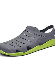 preiswerte -Herrn Schuhe PVC Leder Frühling Neuheit Komfort Sandalen für Normal Draussen Weiß Dunkelblau Grau Grün