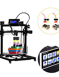 cheap -Flsun I3 DIY 3D Printer kit Large Printing Area 300*300*420mm 3.2 Inch Touch Screen Dual Extruder