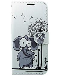 preiswerte -Hülle Für Samsung Galaxy S8 S7 Kreditkartenfächer Geldbeutel mit Halterung Flipbare Hülle Elefant Hart für