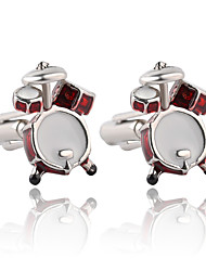 cheap -Geometric Red Cufflinks Alloy Formal / Fashion / Elegant Men's Costume Jewelry For Wedding / Evening Party