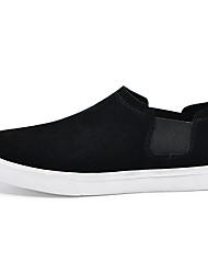 Недорогие -Муж. обувь Замша Весна Осень Удобная обувь Мокасины и Свитер для Повседневные Черный Черно-белый
