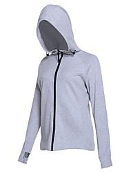 abordables -Femme Veste de Course Manches Longues Séchage rapide Shirt pour Course / Running Coton Noir / Bleu / Gris L / XL / XXL