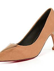abordables -Femme Chaussures Polyuréthane Printemps Automne Confort Chaussures à Talons Talon Aiguille pour De plein air Noir Marron Rose Amande