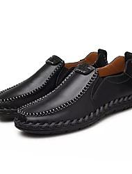abordables -Homme Chaussures Cuir Printemps Automne Confort Mocassins et Chaussons+D6148 pour Décontracté Noir Brun claire Brun Foncé