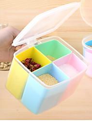 Недорогие -пластик Творческая кухня Гаджет Хранение сыпучих продуктов 1шт Кухонная организация