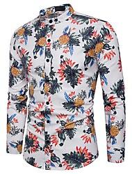 cheap -Men's Club Cotton Shirt Print Jacquard
