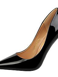 preiswerte -Schuhe Lackleder Frühling Herbst Gladiator Pumps High Heels Stöckelabsatz für Kleid Party & Festivität Gold Schwarz Silber