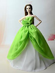 abordables -Vestidos Vestido por Muñeca Barbie  Verde Vestido por Chica de muñeca de juguete