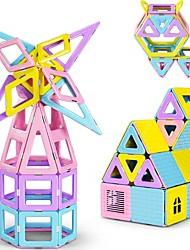 baratos -Blocos Magnéticos / Blocos de Construir 52pcs Arquitetura Transformável / Interação pai-filho Para Meninos Dom