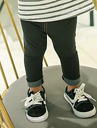 abordables -Pantalons Fille Couleur Pleine Coton Fibre de bambou Spandex Printemps Actif Bleu Noir