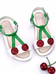 abordables -Fille Chaussures Cuir Printemps / Eté Confort / Chaussures de Demoiselle d'Honneur Fille Sandales pour Blanc / Noir