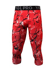 cheap -Men's Running Pants Breathability Pants / Trousers Exercise & Fitness Running Mountain Bike/MTB Polyester Black Dark Blue Red Blue S M L