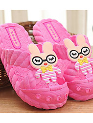 cheap -Girls' Shoes PVC Spring Summer Comfort Slippers & Flip-Flops for Casual Dark Blue Peach Pink Light Blue