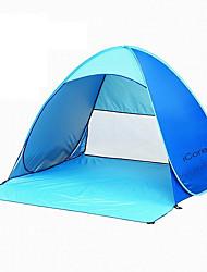 Недорогие -2 человека на открытом воздухе Световой тент Компактность Хорошая вентиляция Ультралегкий (UL) Ультрафиолетовая устойчивость Складной Защита от солнца Однокомнатная Двухслойные зонты <1000 mm Палатка