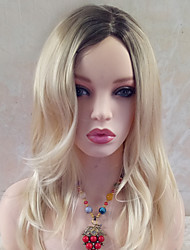 cheap -Synthetic Wig Wavy With Bangs Synthetic Hair Side Part Blonde Wig Women's 17-20inch Capless