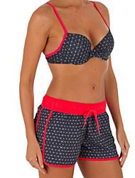 cheap -Women's Bikini - Spots & Checks Print Cheeky