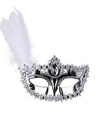 economico -Classico Maschera mascherata Bianco Oro Argento Nero Plastica Accessori Cosplay Mascherata