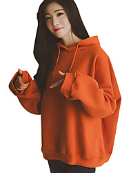 cheap -Women's Daily Casual Hoodie Letter Hooded Micro-elastic Cotton Long Sleeve Spring Fall