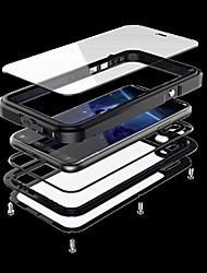 Недорогие -Кейс для Назначение Apple iPhone X iPhone X Вода / Грязь / Надежная защита от повреждений Чехол броня Твердый Металл для iPhone X