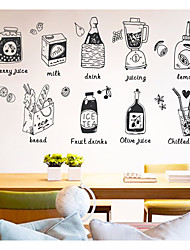 cheap -Food & Beverage Food Wall Stickers 3D Wall Stickers Decorative Wall Stickers, Paper Home Decoration Wall Decal Wall
