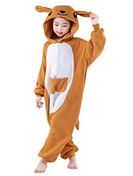 cheap -Kigurumi Pajamas Kangaroo Onesie Pajamas Costume Polar Fleece Orange Cosplay For Kid Animal Sleepwear Cartoon Halloween Festival / Holiday