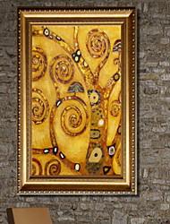 abordables -Romance Illustration Art mural,Alliage d'aluminium Matériel Avec Cadre For Décoration d'intérieur Cadre Art Salle de séjour