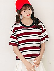 preiswerte -Damen Solide-Freizeit Aktiv T-shirt