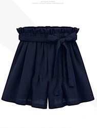 cheap -Women's Simple Plus Size Wide Leg Pants - Solid Colored / Summer