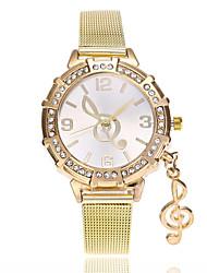 Недорогие -Жен. Кварцевый Наручные часы Китайский Имитация Алмазный сплав Группа На каждый день Мода Золотистый