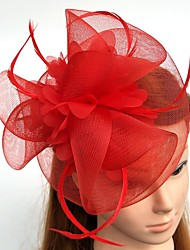 cheap -Feather Net Fascinators Flowers Hats with Feathers / Fur 1pc Wedding Special Occasion Headpiece