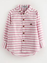 tanie Modna odzież dziecięca-Koszula Bawełna Dla chłopców Jendolity kolor Wiosna Blushing Pink